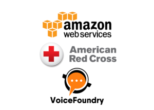 AWS, Red Cross, VoiceFoundry logos