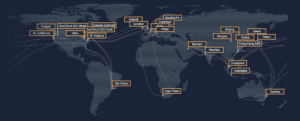 AWS Region Map Oct2019